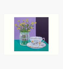 Water Meadow, Butter cup floral Art Print