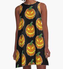 Spooky Pumpkin A-Line Dress
