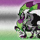 Aro Ace Pride Dragon by Markaleb