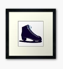 Ice skate Framed Print