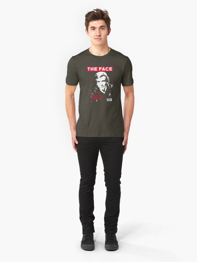 Alternate view of Dirk Benedict - The Face Slim Fit T-Shirt