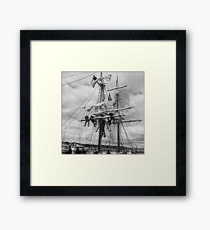 Furling the Sails Framed Print