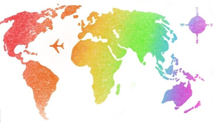 Rainbow World Map By Isabel Ong Redbubble