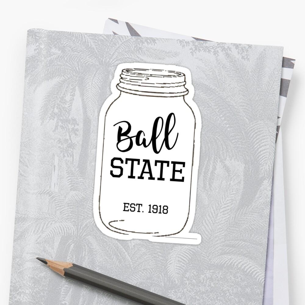 Ball State Universität Ball Mason Jar Sticker By Indiefresh