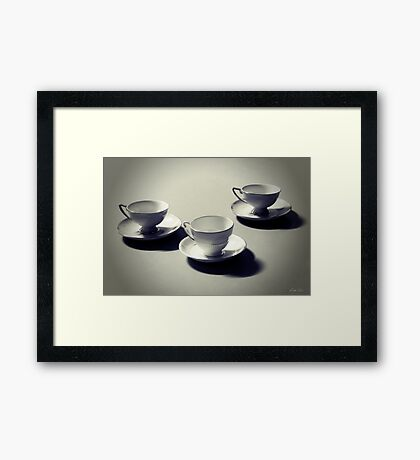 Today I'd like to sit and sip Framed Print