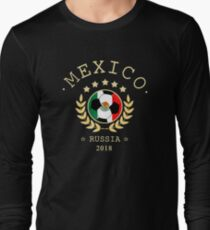 Mexico Mexican Soccer Team Russia 2018 T Shirt Football Fan copa mundial  Long Sleeve T-Shirt
