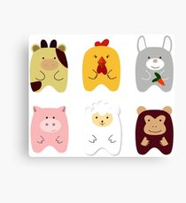 Cute animals Canvas Print