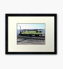 Amtrak Catenary Maintenance Unit in Kingston Yard Framed Print