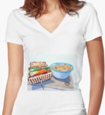 The Westport Club Women's Fitted V-Neck T-Shirt
