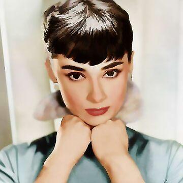 Audrey Hepburn by marlenewatson