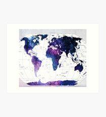 ALLOVER THE WORLD-Galaxy map Art Print