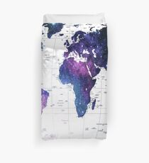 ALLOVER THE WORLD-Galaxy map Duvet Cover