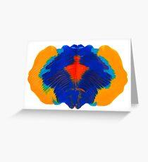 Tintenklecks Geist Grußkarte