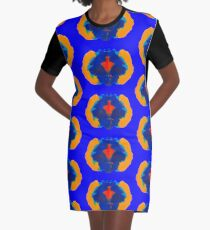 Tintenklecks Geist T-Shirt Kleid