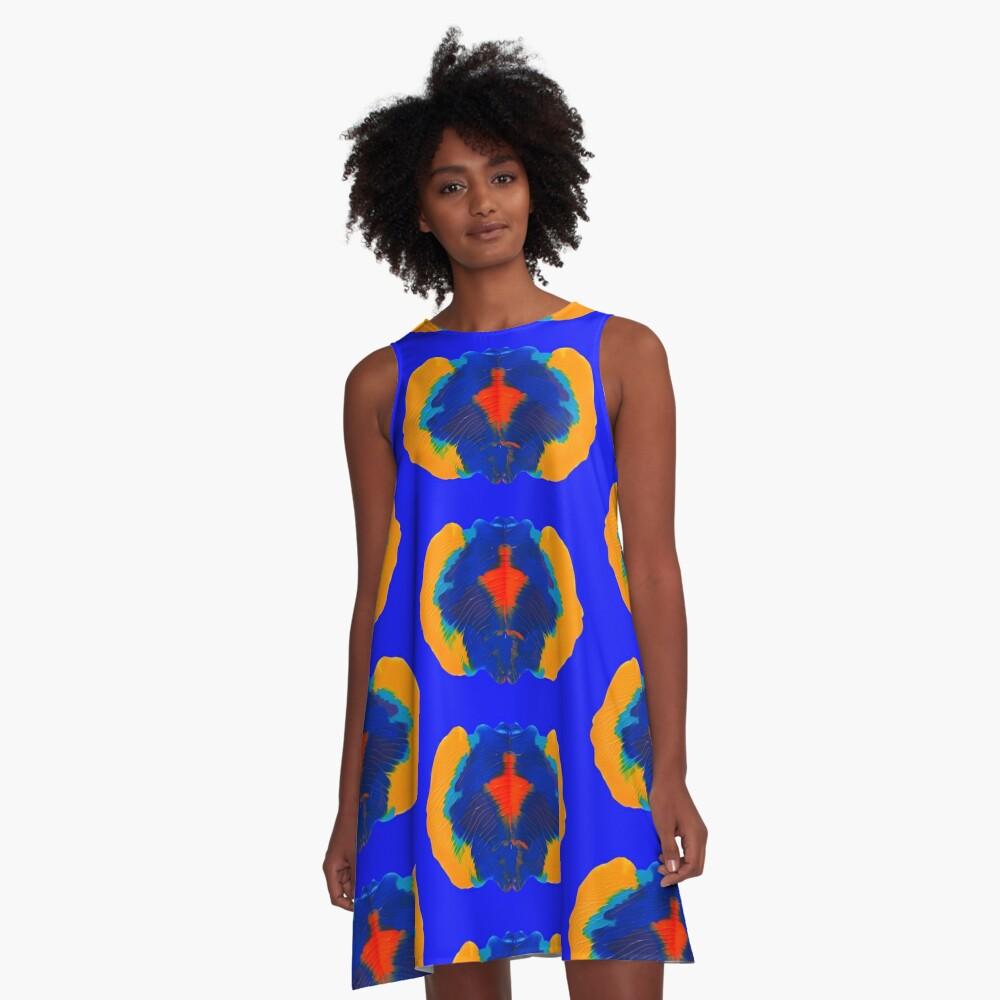 Tintenklecks Geist A-Linien Kleid