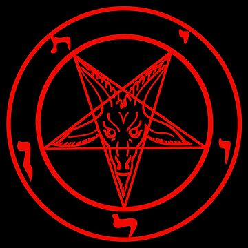 The seal of the Baphomet (red shape / black contour) by Weltenbrand