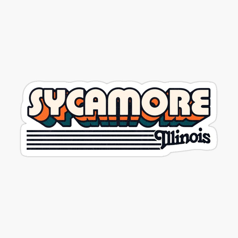 Sycamore, Illinois | Retro Stripes Sticker