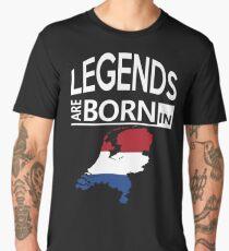 Legends born Netherlands Dutch Pride Birthday Men's Premium T-Shirt