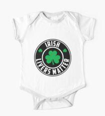Funny Irish Livers Matter Saint Patrick Day T-Shirt One Piece - Short Sleeve