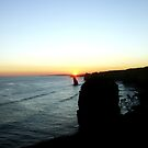 Sunset over the limestone Coast by cjcphotography