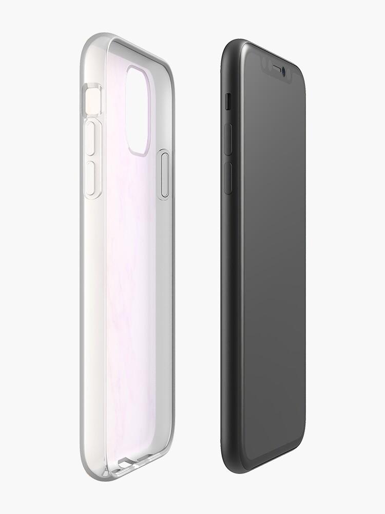 Coque iPhone «Conception esthétique de marbre arc-en-ciel», par warddt