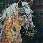 Happy Appaloosa horse in pastel by emma schmitt
