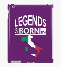 Italy Italian Love Cool Birthday Surprise - Legends are born - Awesome Country Heritage Gift  iPad Case/Skin