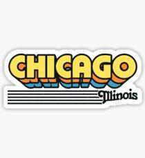 Chicago, Illinois | Retro Streifen Sticker
