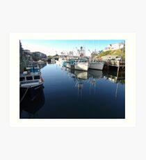 Fishing Village-Bay of Fundy Art Print