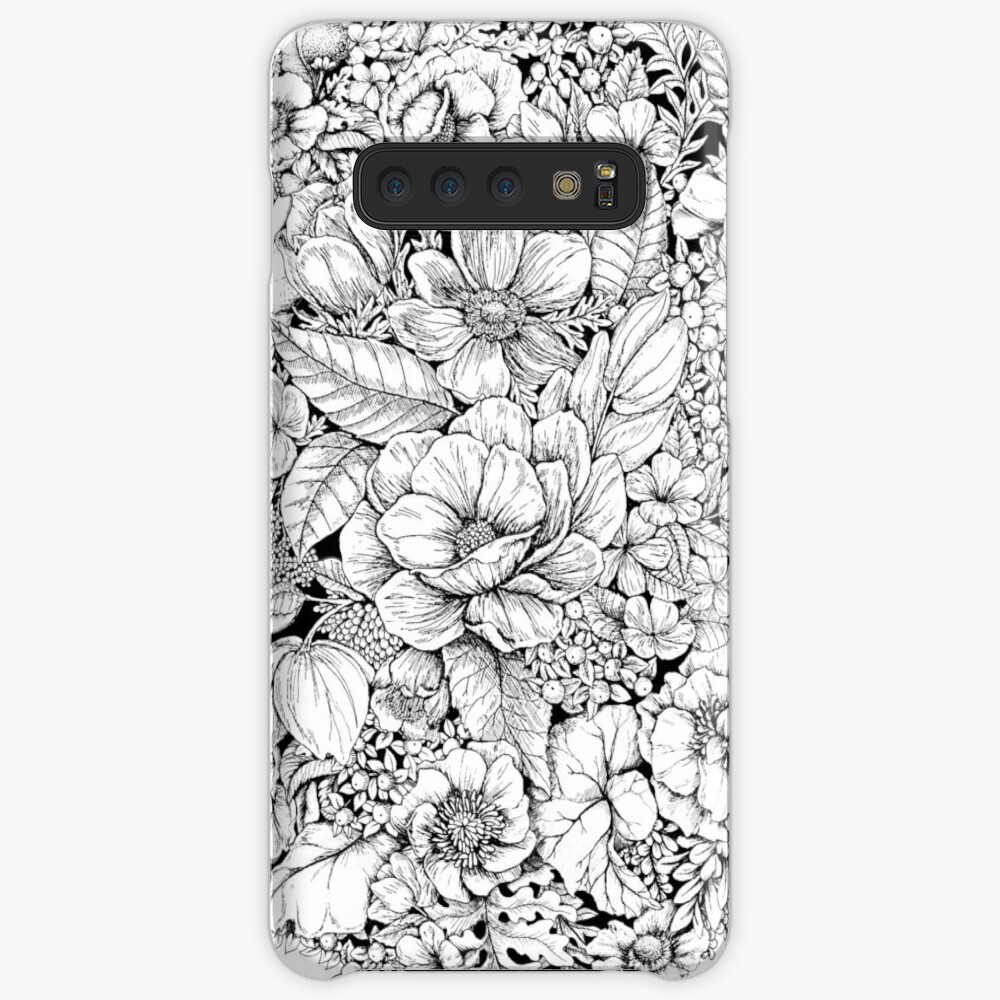 Floral Flower circle  Case & Skin for Samsung Galaxy