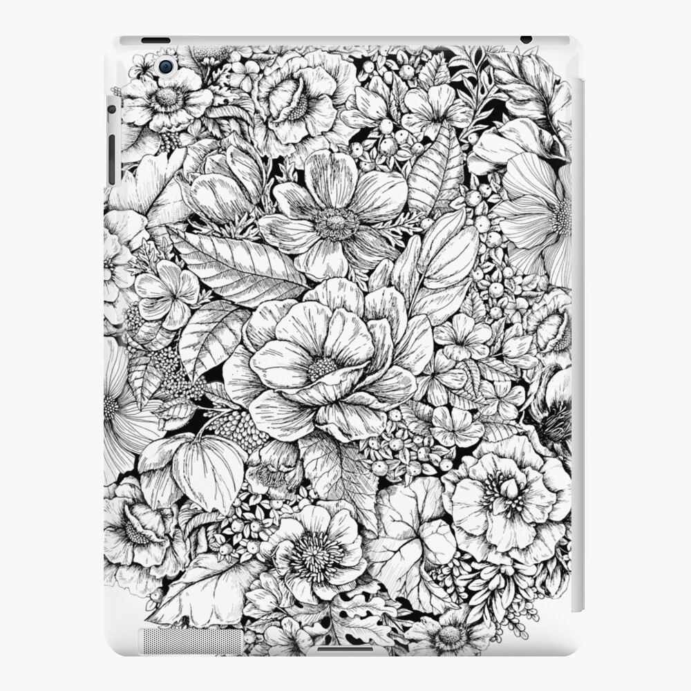 Floral Flower circle  iPad Case & Skin