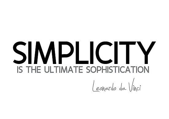 simplicity: ultimate sophistication - leonardo da vinci by razvandrc