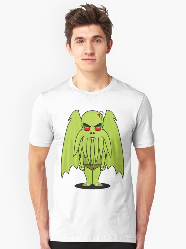 Funny but Scary Cthulhu Unisex T-Shirt Front