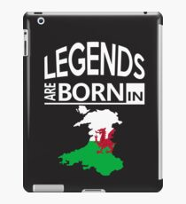 Wales Welsh Love Cool Birthday Surprise - Legends are born - Awesome Country Heritage Gift  iPad Case/Skin