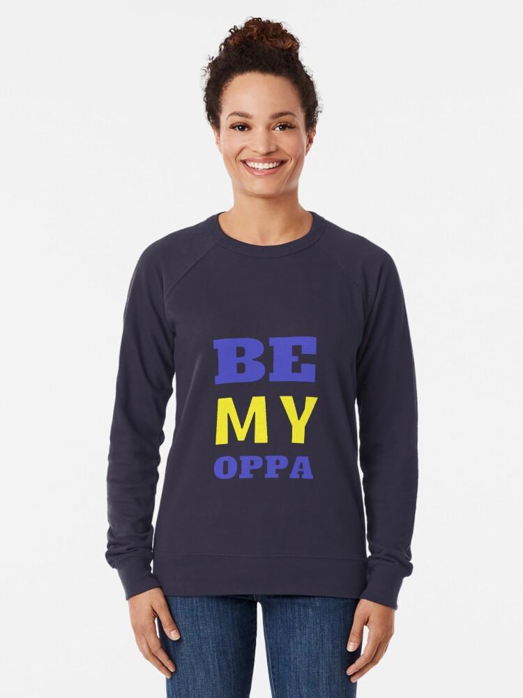 Alternative Ansicht von SEI MEIN OPPA - Blau Leichter Pullover