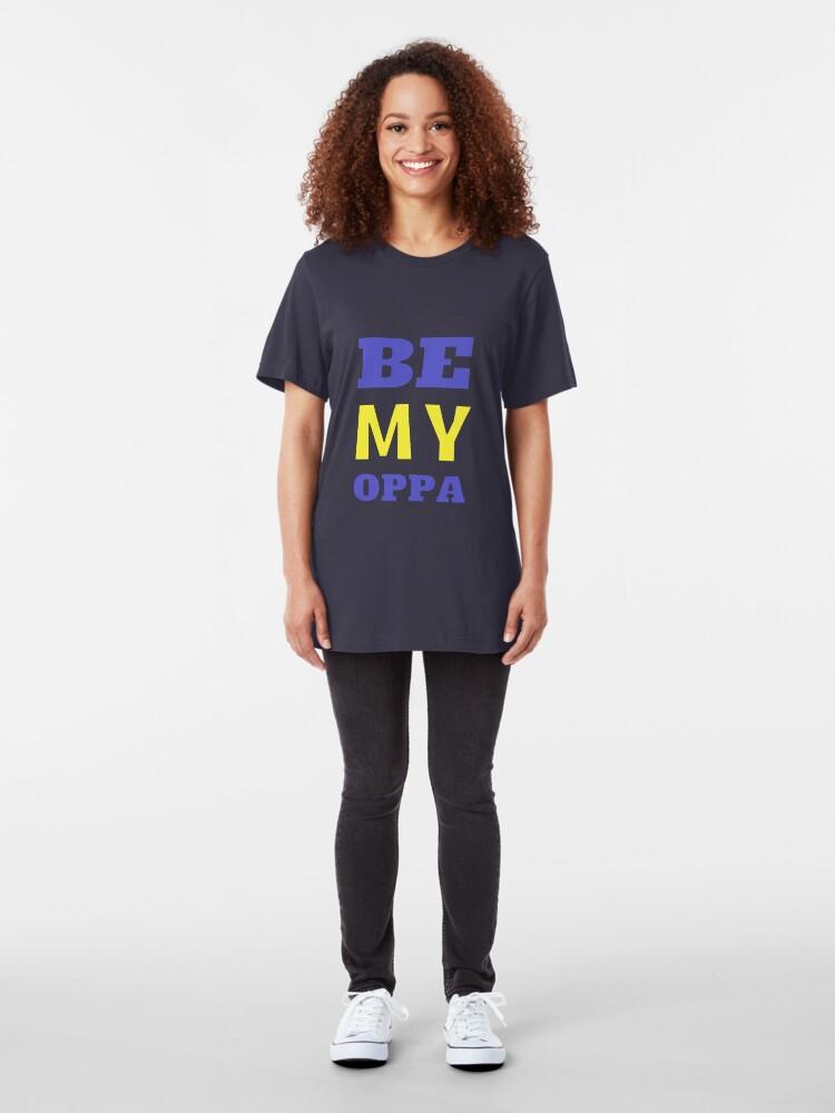 Alternative Ansicht von SEI MEIN OPPA - Blau Slim Fit T-Shirt