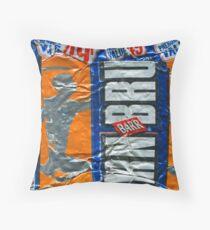 IrnBru - crushed tin Throw Pillow
