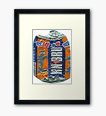IrnBru - crushed tin Framed Print
