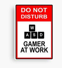 Gamer At Work - PC Canvas Print