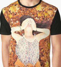 girl lying on the grass Graphic T-Shirt