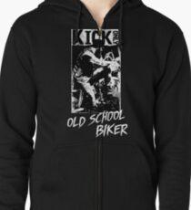 Kick Only - Old School Biker Hoodie mit Reißverschluss