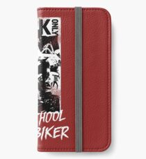 Kick Only - Old School Biker iPhone Flip-Case/Hülle/Skin