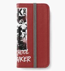 Kick Only - Old School Biker iPhone Flip-Case/Hülle/Klebefolie
