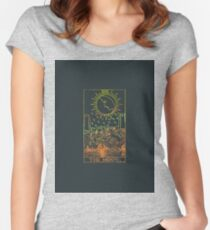 The Moon Tarot Card Women's Fitted Scoop T-Shirt