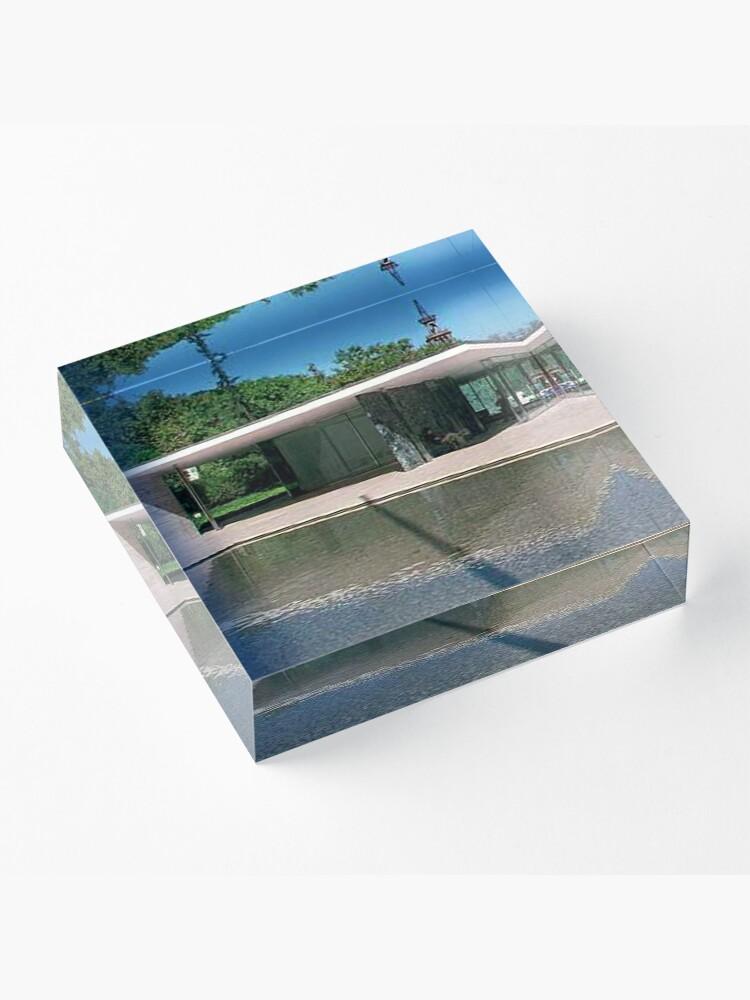 Alternate view of Barcelona Pavillion Acrylic Block