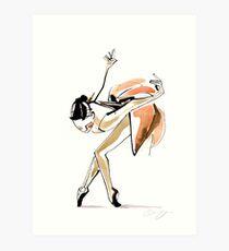 Expressive Watercolor Dance Drawing Art Print