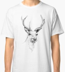 Deer Antlers Stag Head Classic T-Shirt