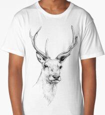 Deer Antlers Stag Head Long T-Shirt