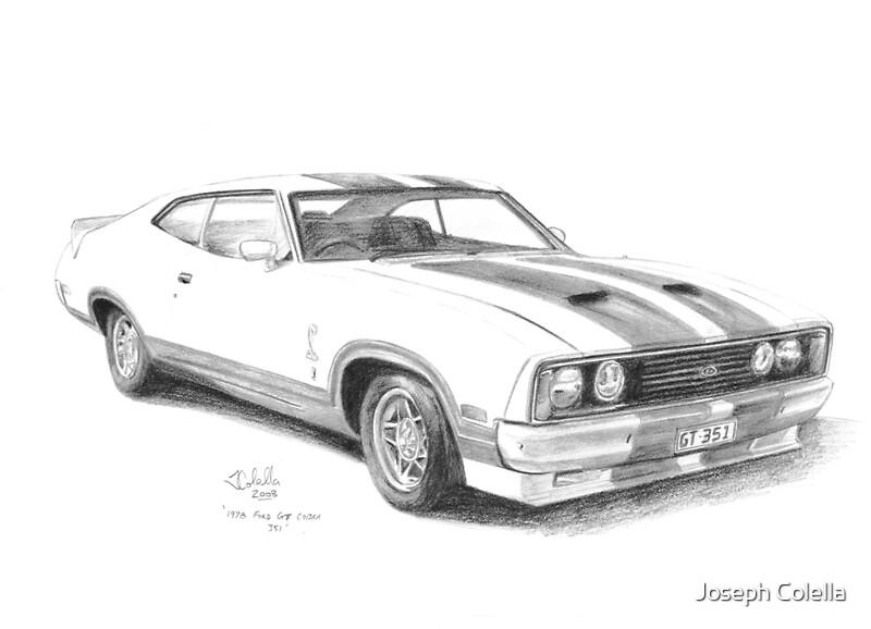 u0026quot 1978 ford gt falcon xc cobra u0026quot  posters by joseph colella