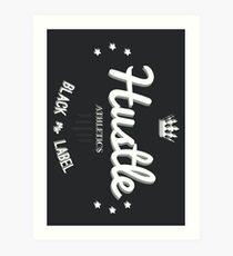 Hustle Athletics Black Label Art Print
